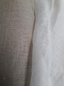 Voile de lin pour rideaux et robes de mariée
