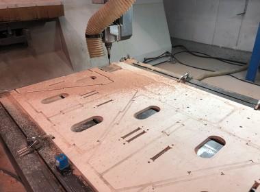 Usinage de panneaux en bois